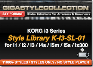 Korg I-3 I1 I2 I4 I5 Ix300 – 11200 Styles