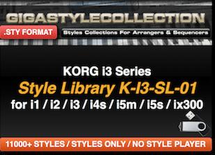 Korg I-3 I1 I2 I4 I5 Ix300 - 11200 Stile