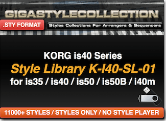 Korg I-40 Is35 Is50 – 11200 Styles