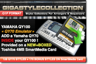 Yamaha QY-100 Style Library – QY-70 Emulator – 300 Styles – 10000 Phrases