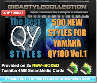 Yamaha QY-100 Vol 01 – 500 Styles – 17000 Phrases