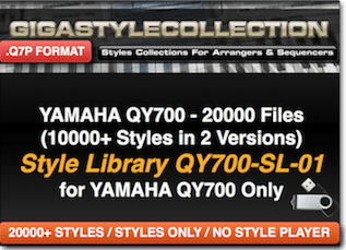 Yamaha QY-700 Vol 01 – 20000 Styles – 800000 Phrases