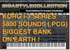 5800 Programs/Sounds – Sound Library For KORG I-3 Series