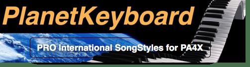 Korg PA4X Individual SongStyle SS0118PA4 AQUARIUS-J RADO-G RAGNI-G MAC DERMOT