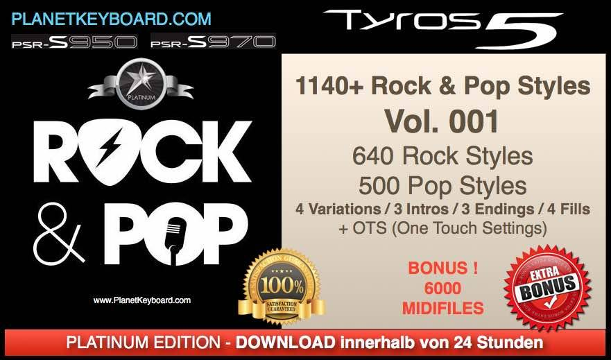 PlanetKeyboard 1140 Rock And Pop Styles For Tyros 3 Tyros 4 Tyros 5 And PSR-S Series