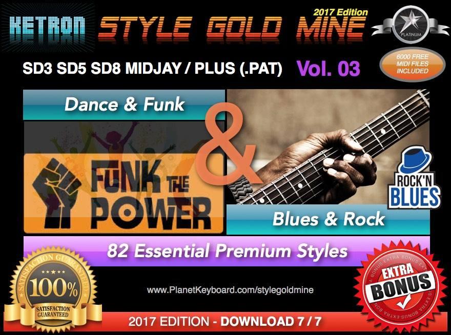 StyleGoldMine Dance Funk And Blues Rock Vol 03 Ketron SD3