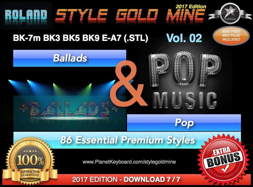 Roland Bk7m styles free download