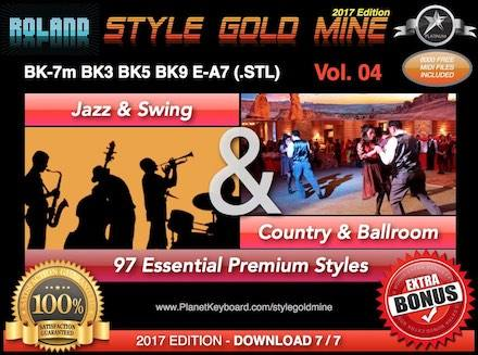 StyleGoldMine Jazz Swing And Country Ballroom Vol 04 Roland BK Series BK-7m BK7 BK-5 BK-3 BK-9 E-A7