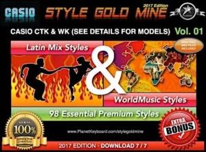 StyleGoldMine Latin Mix World Music Vol 01 Casio CTK and WK Series Check Models