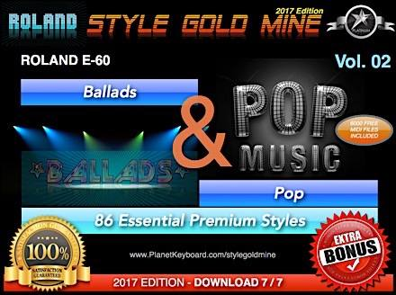 StyleGoldMine Ballads And Pop Vol 02 Roland E60