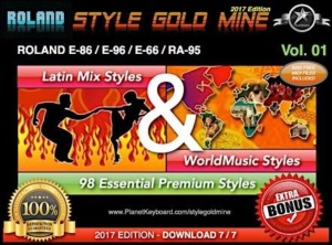 StyleGoldMine Latin Mix World Music Vol 01 Roland E86 E96 E66 RA95