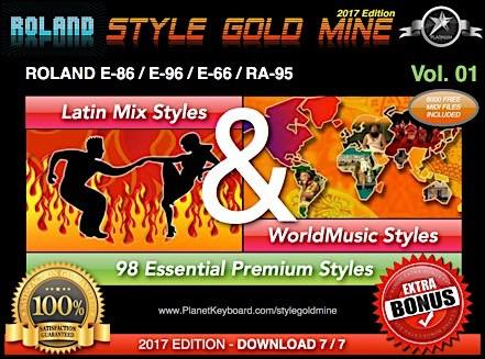 StyleGoldMine Latin Mix World Music Vol 01 Roland E86 E96 E66 RA95