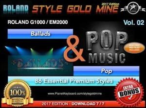 StyleGoldMine Ballads and Pop Vol 02 Roland G1000 EM2000 Series