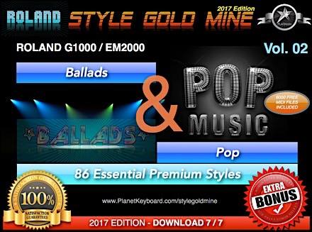 StyleGoldMine Ballads and Pop Vol 02 Roland G1000 EM2000 Series