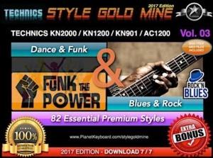 StyleGoldMine Dance Funk and Blues Rock Vol 03 Technics KN2000 AC1200 KN1200 KN901