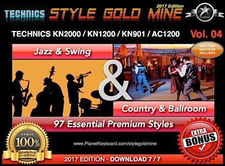StyleGoldMine Swing Jazz va Country BallRoom 04 vol Technics KN2000 AC1200 KN1200 KN901
