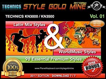 StyleGoldMine Latin Mix World Music Vol 01 Technics KN3000 KN3500