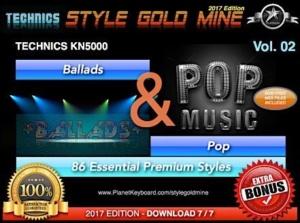 StyleGoldMine Ballads and Pop Vol 02 Technics KN5000
