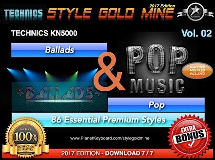 StyleGoldMine Ballads и Pop Vol 02 Technics KN5000