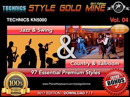 StyleGoldMine Swing Jazz and Country BallRoom Vol 04 Technics KN5000