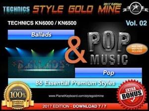 StyleGoldMine Ballads and Pop Vol 02 Technics KN6000 KN6500
