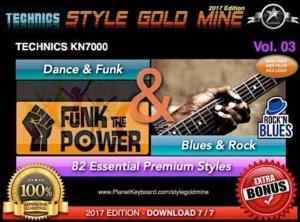 StyleGoldMine Dance Funk and Blues Rock Vol 03 Technics KN7000