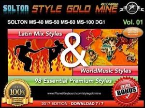 StyleGoldMine Latin Mix World Music Vol 01 Solton MS40 MS50 MS60 MS80 MS100 DG1