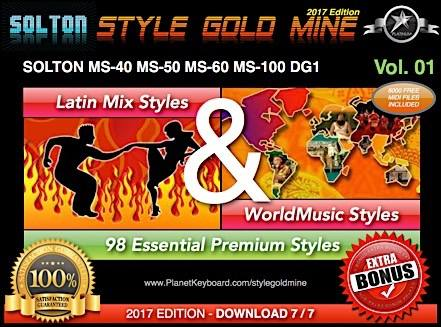 StyleGullnáma Latin Mix World Music Vol 01 Solton MS40 MS50 MS60 MS80 MS100 DG1