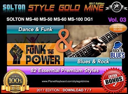 StyleGullnáma Dance Funk og Blues Rock Vol 03 Solton MS40 MS50 MS60 MS80 MS100 DG1