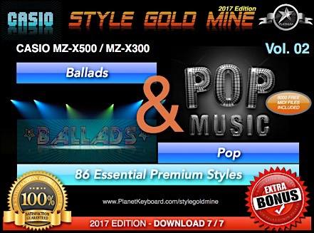 StyleGoldMine Ballads and Pop Vol 02 Casio MZX-500 MZX-300