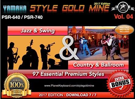 StyleGoldMine Swing Jazz And Country BallRoom Vol 04 Yamaha PSR-640 PSR-740