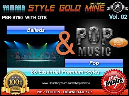 StyleGoldMine Ballads And Pop Vol 02 Yamaha PSR-S750