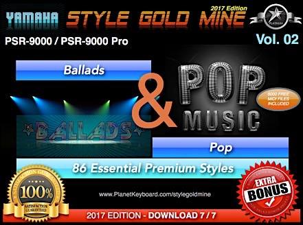 StyleGoldMine Ballads and Pop Vol 02 Yamaha PSR-9000 PSR9000 Pro Series