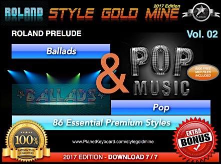 StyleGoldMine Ballads And Pop Vol 02 Roland Prelude All Versions