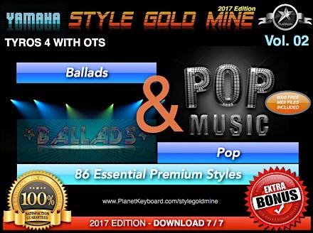 StyleGoldMine Ballads and Pop Vol 02 Yamaha Tyros 4 Only
