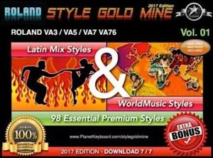 StyleGoldMine Latin Mix World Music Vol 01 Roland VA3 VA5 VA7 VA76 VA Series