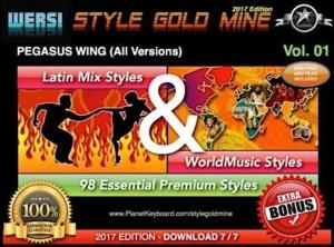 StyleGoldMine Latin Mix World Music Vol 01 Wersi Pegasus Wing All Versions