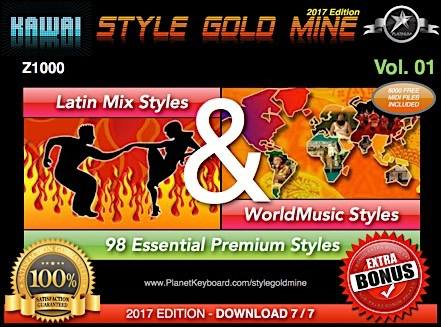 StyleGoldMine Latin Mix World Music Vol 01 Kawai Z1000
