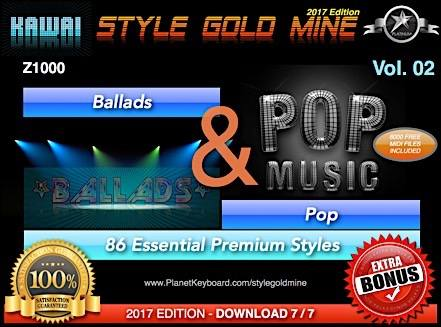 StyleGoldMine Ballads And Pop Vol 02 Kawai Z1000