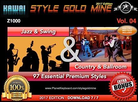 StyleGoldMine Swing Jazz and Country BallRoom Vol 04 Kawai Z1000