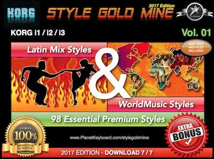 StyleGoldMine Latin Mix World Tónlist Vol 01 Korg I1 I2 I3