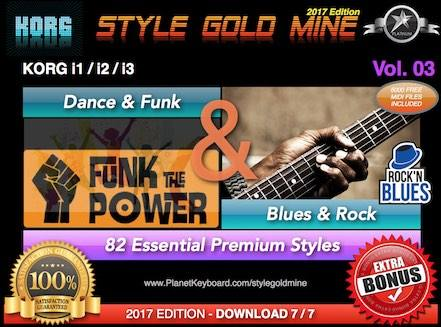 StyleGoldMine Dance Funk og Blues Rock Vol. 03 Korg I1 I2 I3