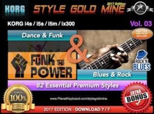 StyleGoldMine Dance Funk and Blues Rock Vol 03 Korg I4S I5M I5S IX300