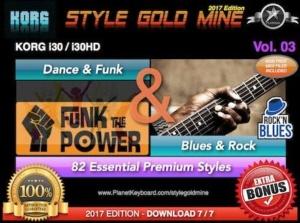StyleGoldMine Dance Funk and Blues Rock Vol 03 Korg I30 I30HD
