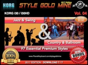 StyleGoldMine Swing Jazz and Country BallRoom Vol 04 Korg I30 I30HD