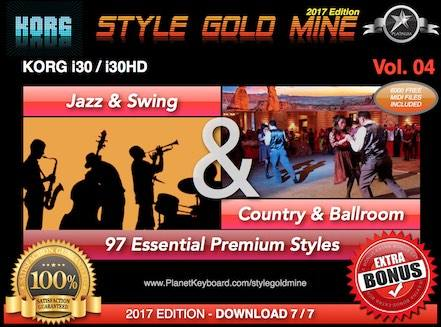 StyleGoldMine Swing Jazz And Country BallRoom Vol. 04 Korg I30 I30HD