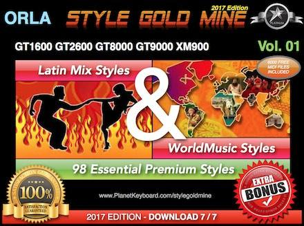 StyleGoldMine Latin Mix World Music Vol 01 Orla GT1600 GT2600 GT8000 GT9000 XM900