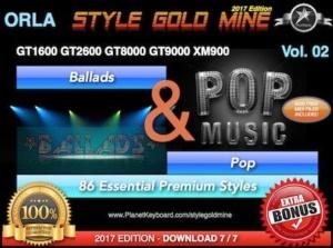 StyleGoldMine Ballads and Pop Vol 02 Orla GT1600 GT2600 GT8000 GT9000 XM900