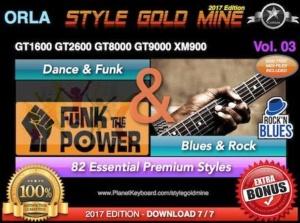 StyleGoldMine Dance Funk and Blues Rock Vol 03 Orla GT1600 GT2600 GT8000 GT9000 XM900