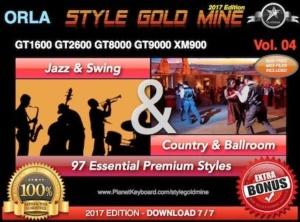 StyleGoldMine Swing Jazz and Country BallRoom Vol 04 Orla GT1600 GT2600 GT8000 GT9000 XM900